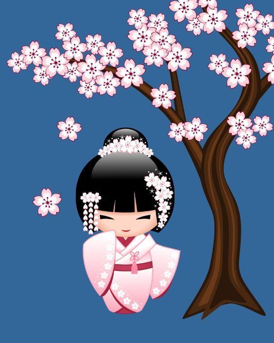 Resultado de imagen de muñeca tela aplicacion kokeshi
