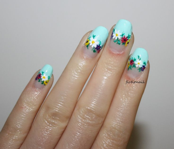 Fictionail: Floral Negative Space Nails