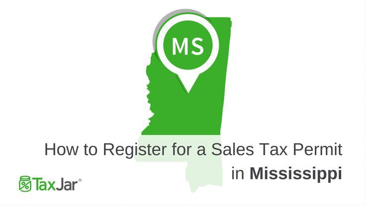 Register Sales Tax License Mississippi
