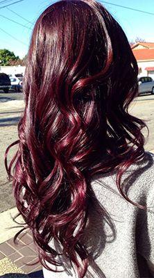 Deep plum with dark red hues.