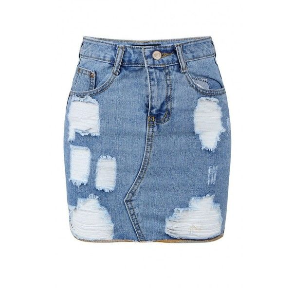 17 Best ideas about Ripped Denim Skirts on Pinterest | Denim ideas ...
