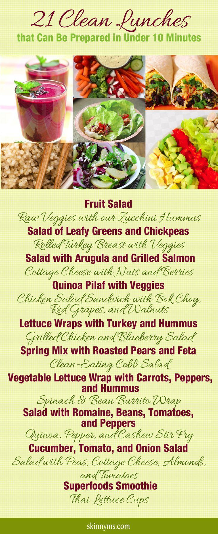 21 pranzi da prerarare in meno di 10 minuti #pranzo #cibisani