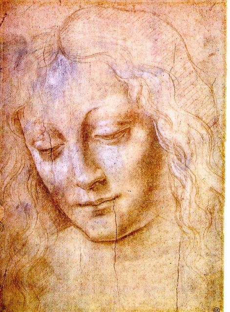 Leonardo da Vinci - Head of a Young Woman