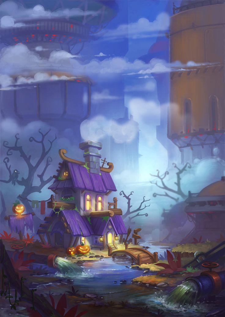 the last witch house by lepyoshka.deviantart.com on @DeviantArt