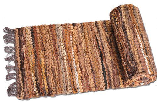 Extra Weave USA Tucson Leather 13-Inch by 78-Inch Table Runner