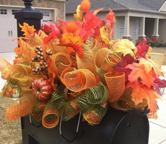 handmade thanksgiving fall headstone mailbox table decor saddle or gift - Images Of Fall Decorations