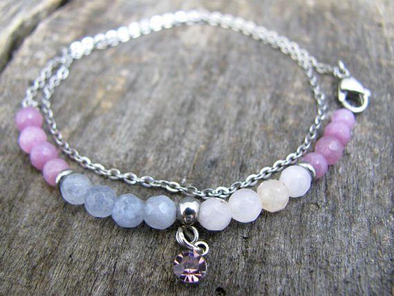 Beaded colorful bracelet Bracelet gift for women Dainty tiny