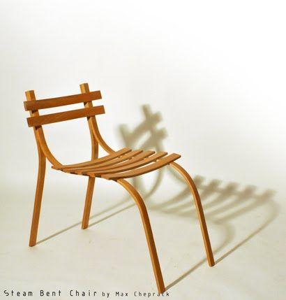steam bent chair wood chair by max cheprack