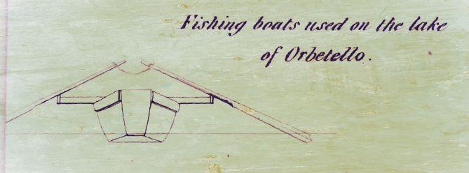 barca di Orbetello in un disegno di Charles H. Wilson