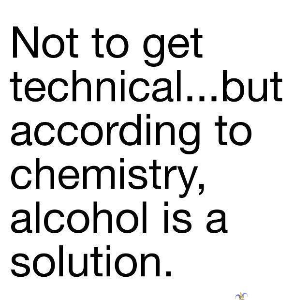 Kuva: Alkoholi, solution liuos tiede