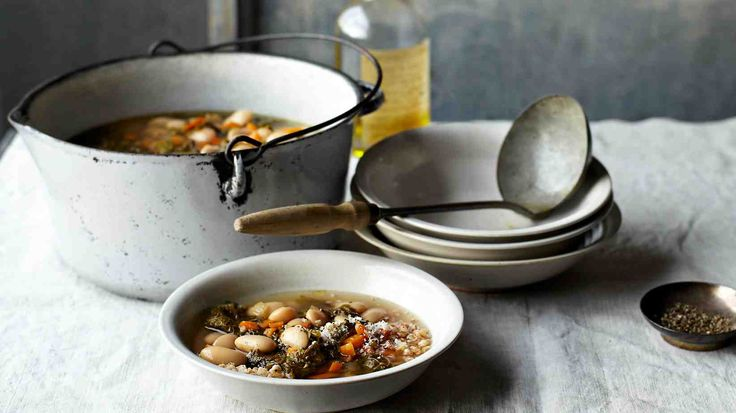 Italian White-Bean-and-Mustard-Greens Soup and more on MarthaStewart.com