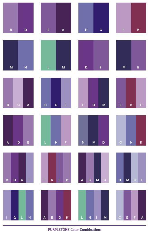 Lavender And Light Gray Color Scheme Wedding Purple Tone Color Schemes Color Combinations