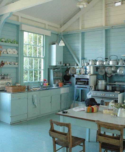 Kitchen Teal Cabis On Beach Cottage Kitchens Subway Style: 271 Best Modern Cottage Style Kitchen Images On Pinterest