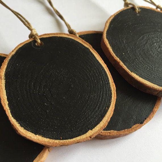Barattolo mini lavagne fetta di legno del di TheBeadPotCanterbury