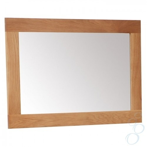Solid oak framed mirror for bathroom or hallway small for Small white framed mirrors