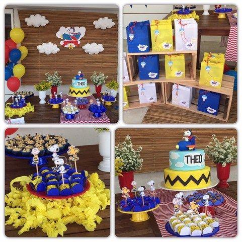 Festa com tema do Snoopy