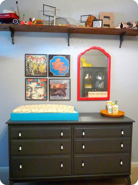 cute dresser: Arrangements Ideas, New Baby Boys, Decor Nurseries, Baby Child Rooms, Dressers Colors, Baby Ideas, Baby Rooms, Wrought Irons, Baby Stuff