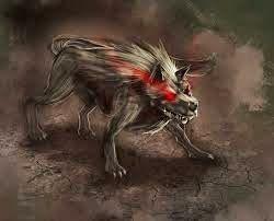 Cães do inferno. Cães do Inferno fazem também parte do folclore da Inglaterra onde são conhecidos por Barghest, que aparecem para anunciar a morte, e são descritos como cães negros, enormes, com grandes olhos vermelhos e incandescentes, que têm a estranha capacidade de desaparecer em um estalar de dedos. Há versões que dizem também que esses cães são responsáveis por buscar a alma das pessoas que fazem pacto com o demônio. São seres sobrenaturais que costumam ser vistos em encruzilhadas.