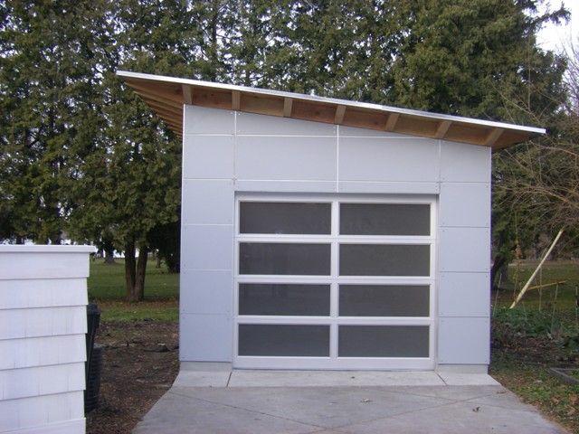 garage door = natural light studio. Photo Gallery - Studio Shed | Modern Shed - Storage Shed - Office Shed