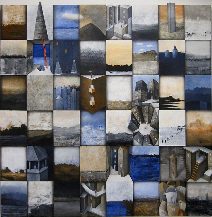 Every picture tells a story 120x120 cm