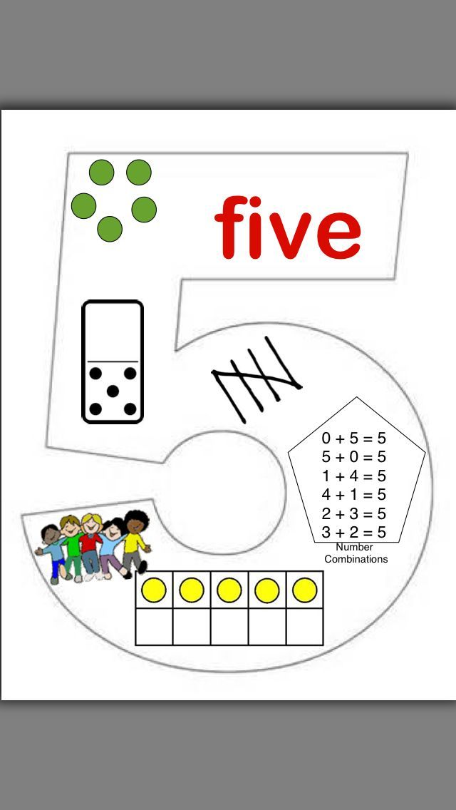 Number 5 anchor chart