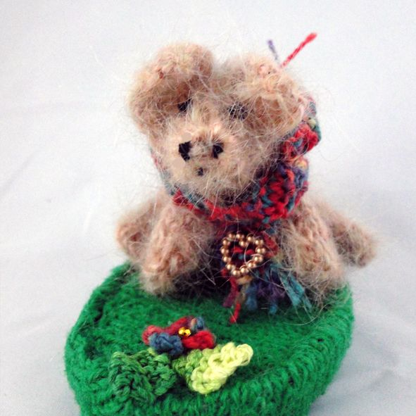 Pig with Scarf Ornament - Knitted Sculpture, Paradis Terrestre - Luxury British Made Accessories & Homeware