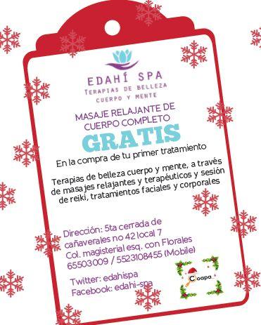 masaje gratis de cortesia al presentar este cupon