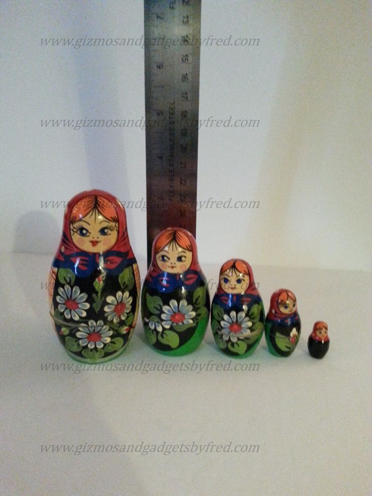 Genuine Russian Nesting Dolls. Authentic. Visit our store for full details. www.gizmosandgadgetsbyfred.com