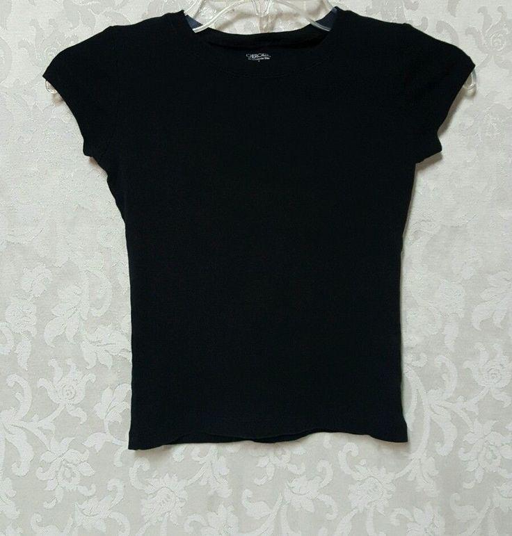 Girls Cherokee Black Shirt Short Sleeve Size S Youth Toddler School Uniform Wear #Cherokee #Everyday
