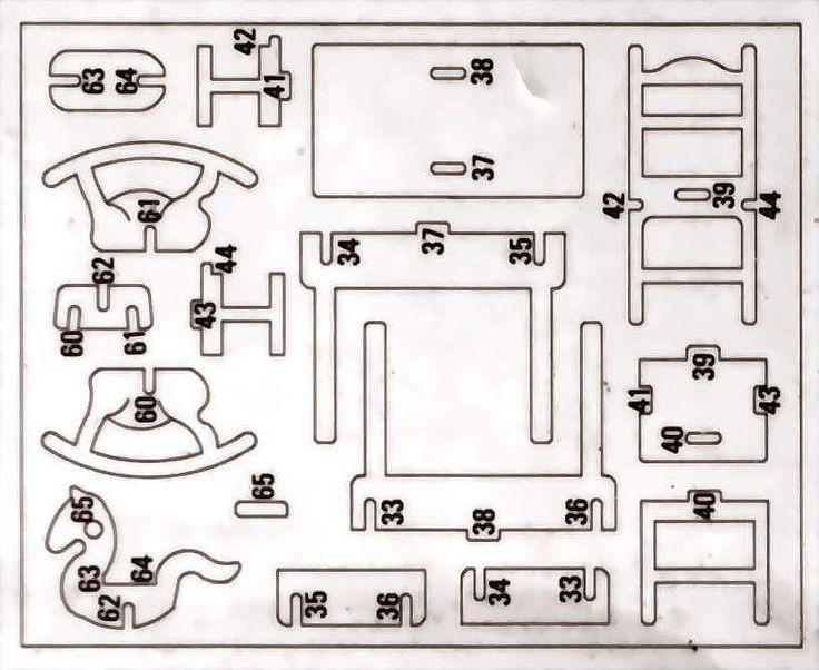 patrones y moldes de sillas miniaturas - Buscar con Google