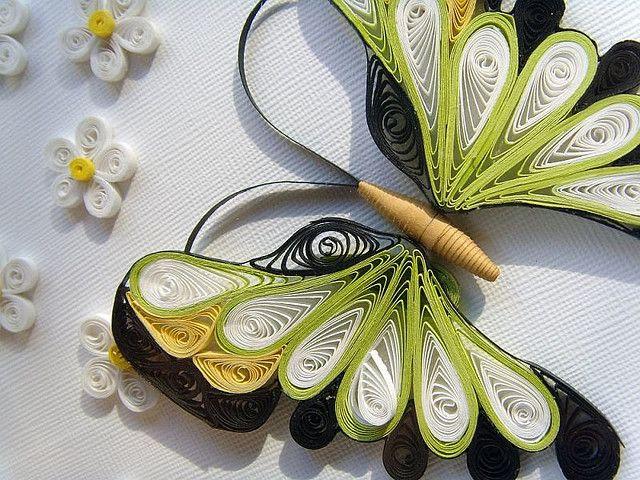 Filigrana con papel Butterfly