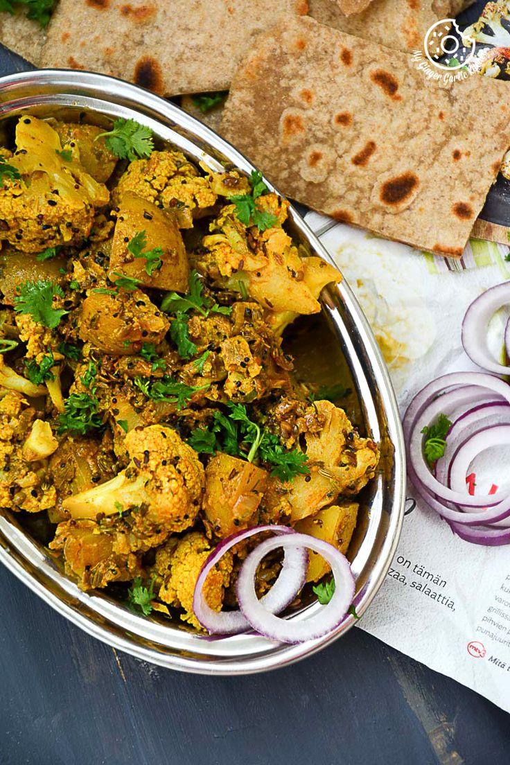 How to Make Punjabi Achaari Gobi | Achari Aloo Gobhi Recipe | Indian Sabzi. This dry, vegan and gluten-free side dish goes well with rice or naan.