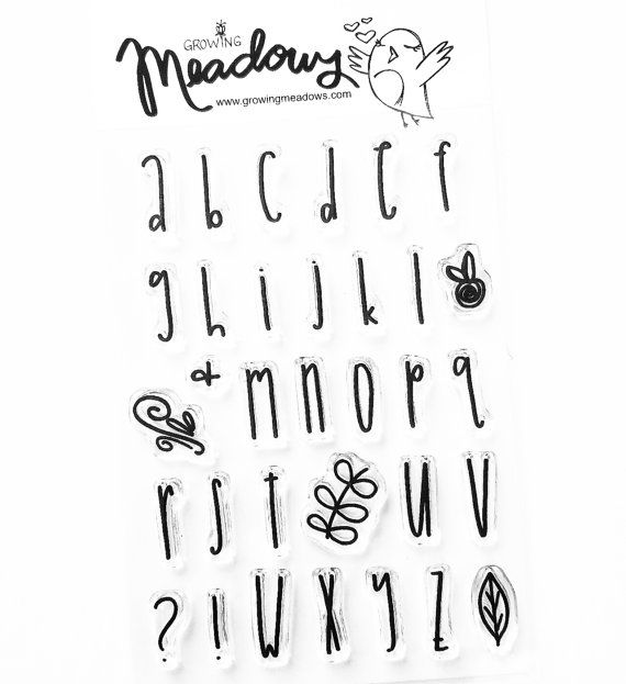 Courtney's Small Alpha Font Alphabet Stamp Set Faith Christian Stamps Scrapbooking Clear Bible Journaling 4x6 Growing Meadows Tai Bender