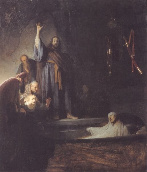 The Raising of Lazarus by Rembrandt van Rijn