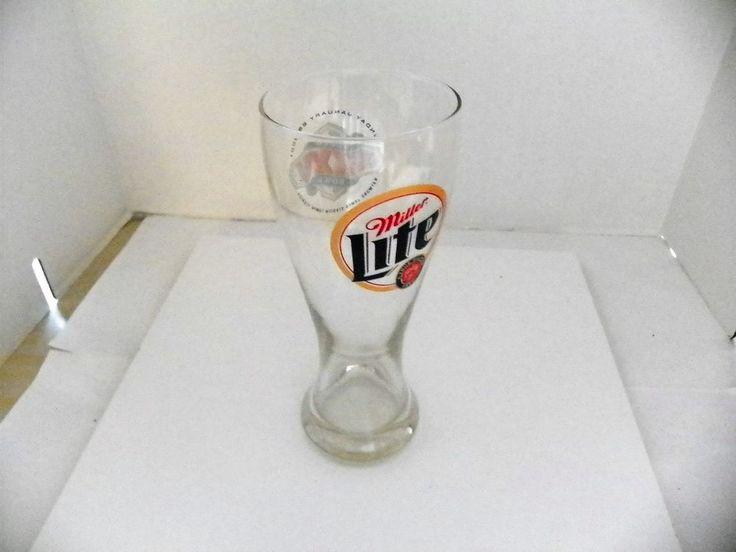 18 OZ MILLER LITE SUPER BOWL XXXV PILSNER BEER DRINKING GLASS RAVENS CHAMPS 2001 #Unbranded #RavensVSGiants