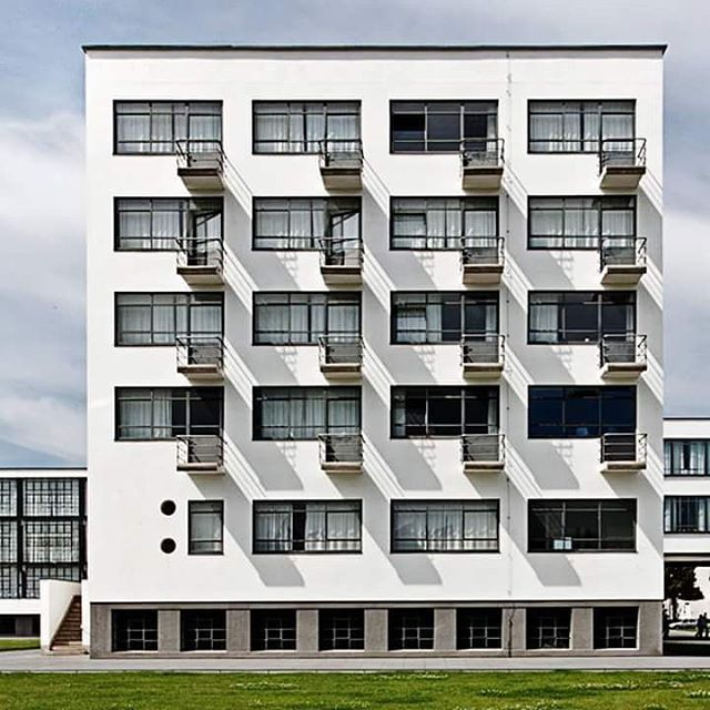 The students' dormitory of the Bauhaus school, by Walter Gropius (1926). Dessau…