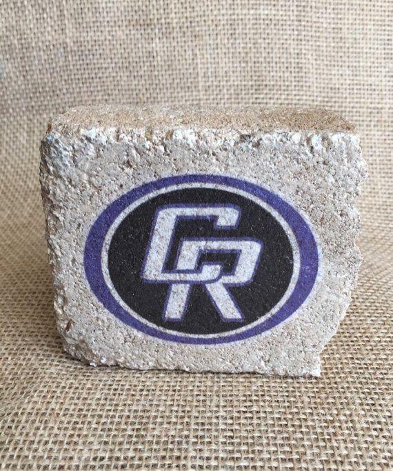 Cedar Ridge High School  Spirit Stone decor  by RoundRockCrafts