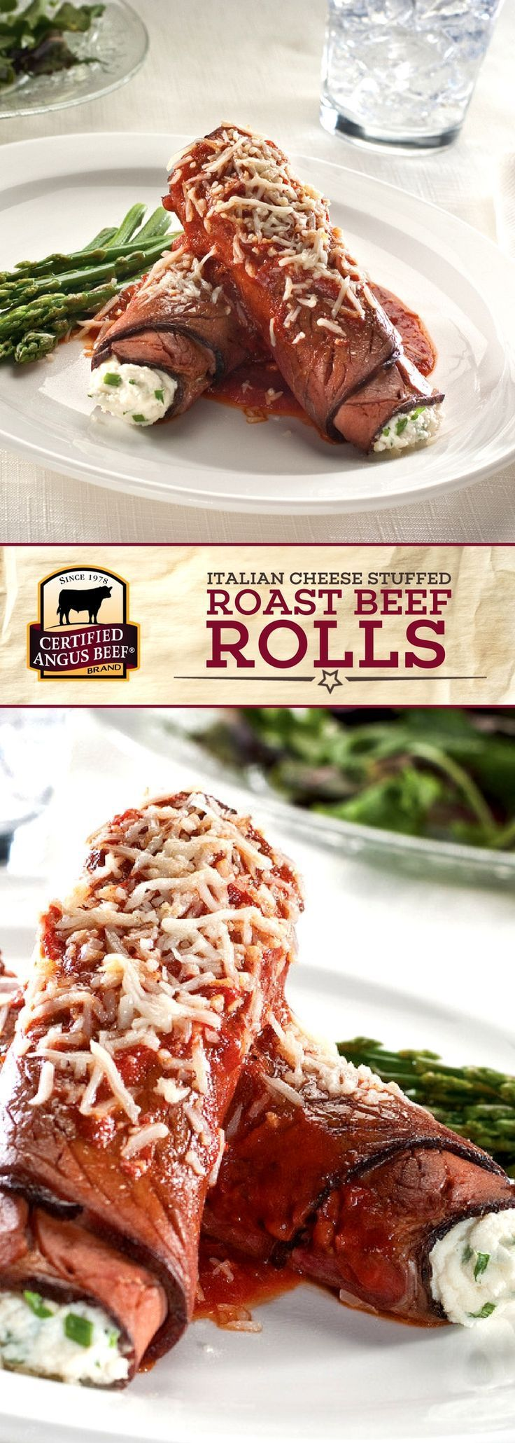 IMPRESS your party guests with Certified Angus Beef ®️️️️️️️️️️️️️️️️️️️️ brand Italian CHEESE Stuffed Roast Beef Rolls. This EASY appetizer, stuffed with THREE different kinds of cheese, is perfect for holiday parties and game day too. Roll up some Certified Angus Beef ®️️️️️ brand deli roast beef with Italian flavors to get the party started! #bestangusbeef #certifiedangusbeef #appetizerrecipes #roastbeef #easyrecipes #partyrecipe #gameday