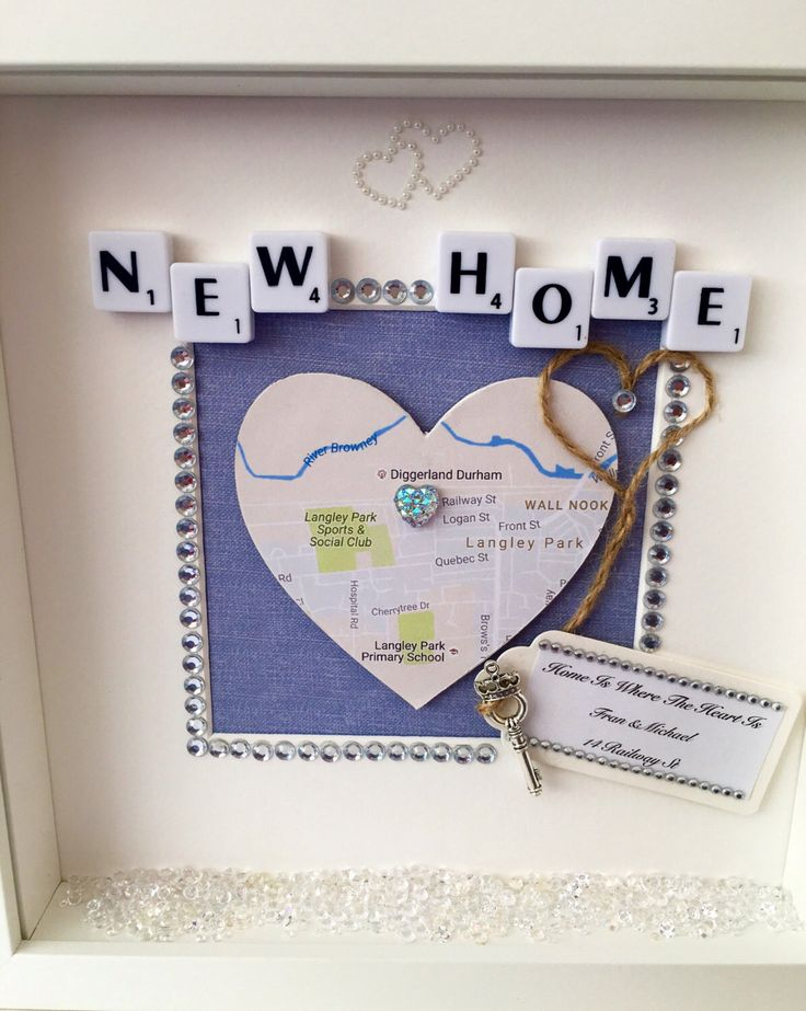 house warming gift new home gift new home frame new home map frame home is where the heart is map and key frame