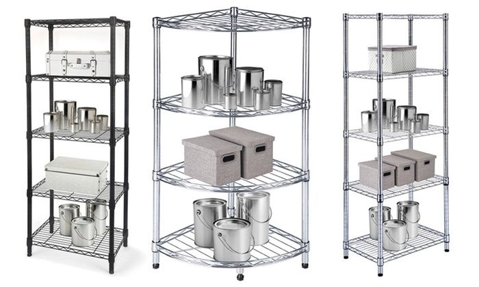 Heavy Duty Steel-Wire Storage Racks with Adjustable Shelves