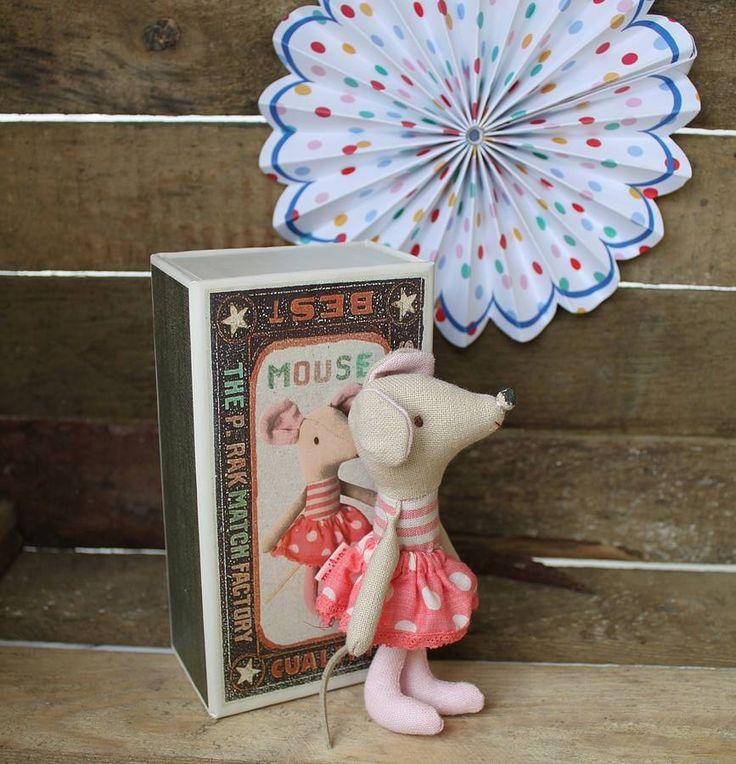 vintage style matchbox mice by posh totty designs interiors | notonthehighstreet.com