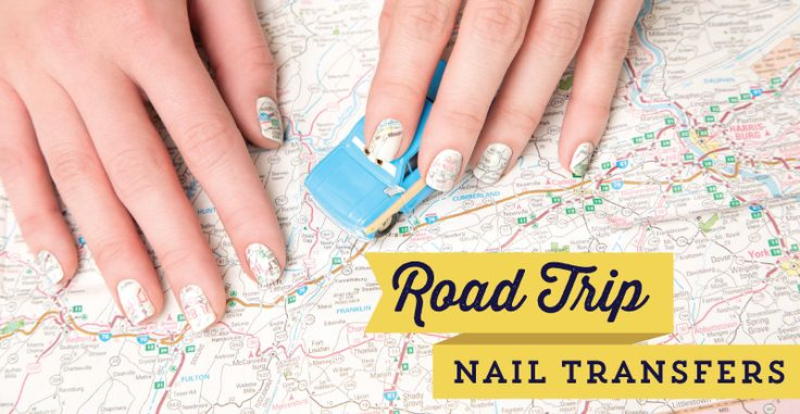 Nail Klub: Go the Extra Mile with DIY Map Nail Transfers -