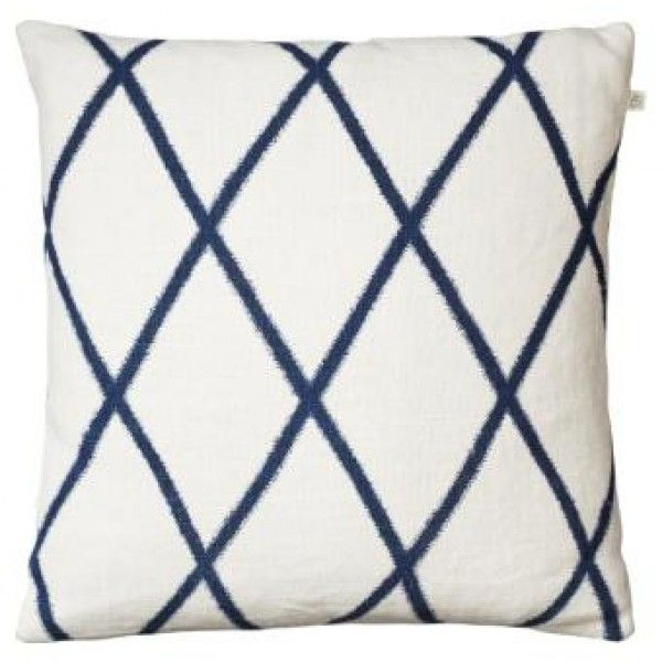This Ikat Orissa Off-White and Blue Stripe Linen Cushion is designed in Sweden. Contemporary design, traditional techniques merge to create the best cushion collection.