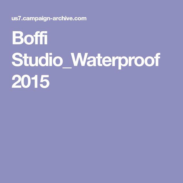 Boffi Studio_Waterproof 2015