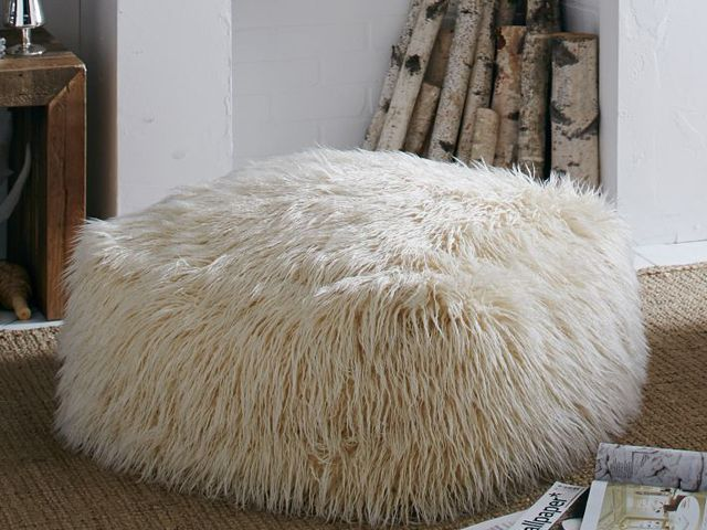 Stuff We Love: Add Extra Seating With This Mongolian Lamb Pouf