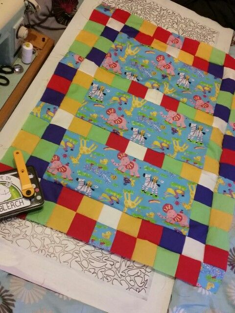 Almost done Eli baby boy quilt