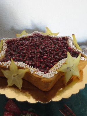 Stella al cioccolato bianco e melagrana - http://www.food4geek.it/le-ricette/dolci/stella-al-cioccolato-bianco-e-melagrana/
