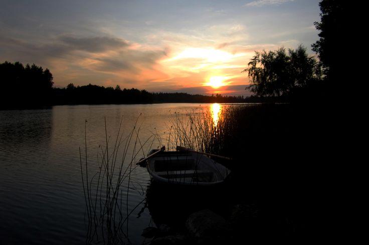 Sundown in Katrinaholm, Sweden