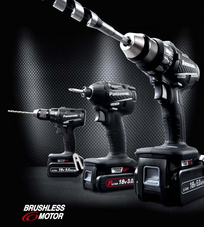 New Panasonic power tools 2015 - carbon black editions with new 3.0Ah and 5.0Ah batteries