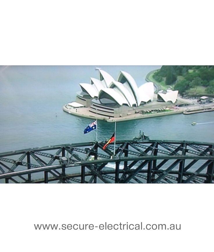 Have a Great Australia Day! Australian & Aboriginal Flags at half mast today..  #HalfMast #AustraliaDay #AusDaySyd